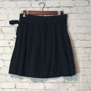 NWT J. Crew Pleated A-Line Skirt w/bow belt